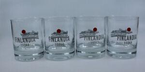 Finlandia Vodka  West Mclaren Mercedes F1 Bar Drinking Glass Finland Set of 4