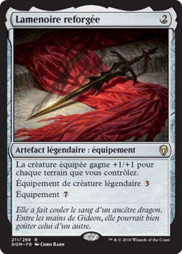 Blackblade Reforged MTG magic DOM MRM FR//VF 2x Lamenoire reforgée