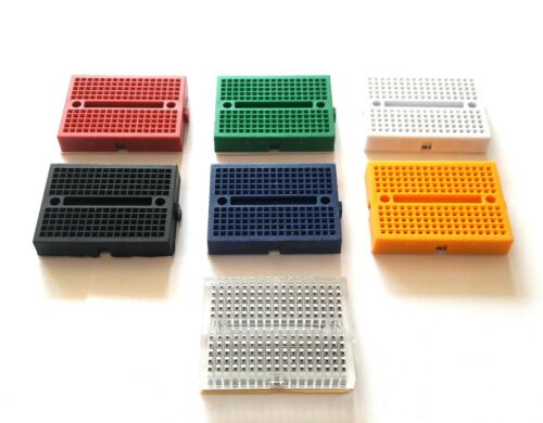 Mini BREADBOARD 170 Tie Point Kit 7 un Ideal Para Prototipos-Reino Unido Vendedor