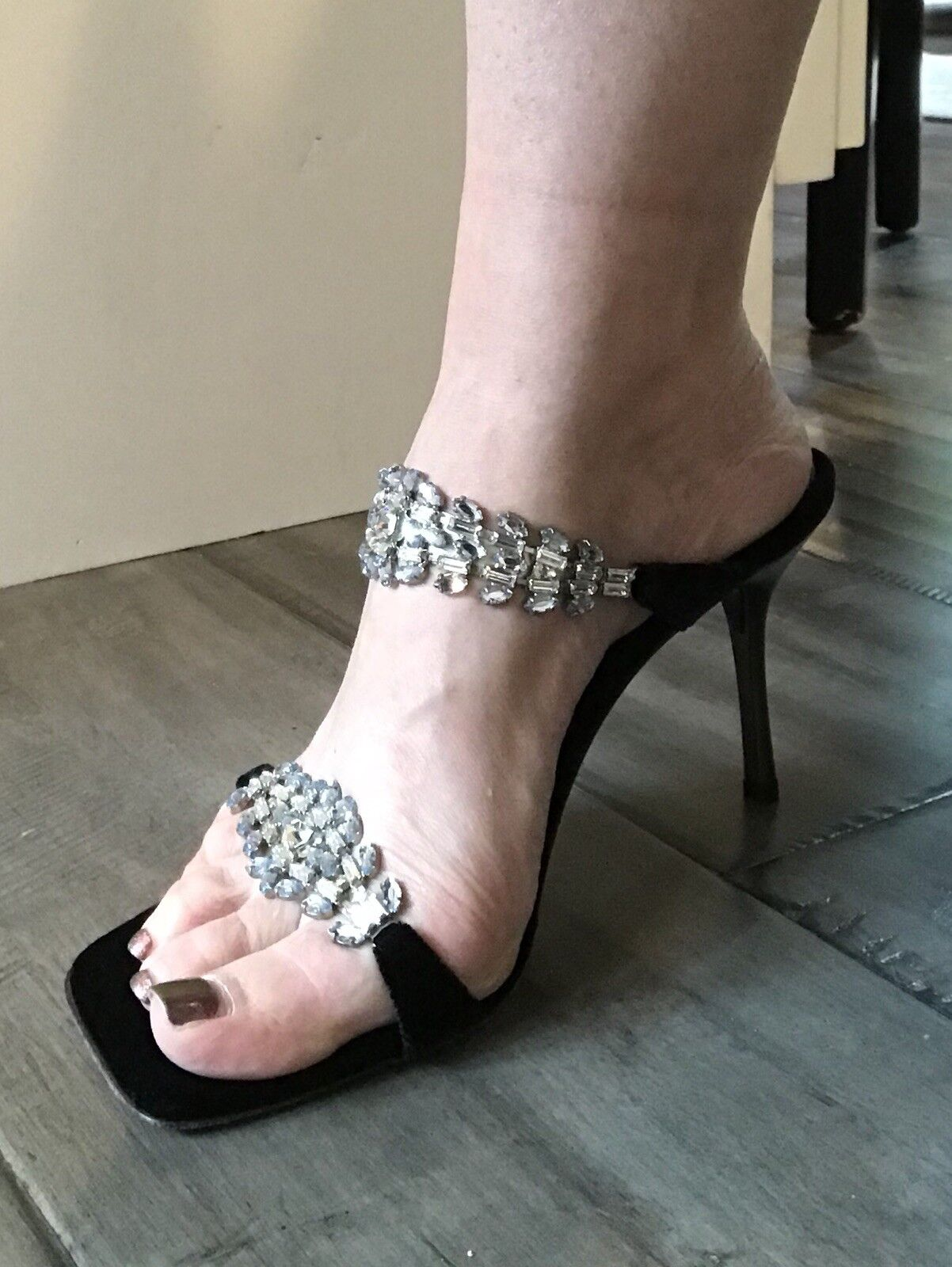 Glamerous Glitzy Giuseppe Zanotti Vicini High Heel Sandals With Crystals Größe 38