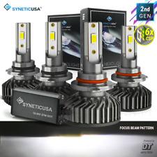 Syneticusa 90059006 Led Headlight Combo Cree Kit Hi Low Beam Light Bulb 12000lm