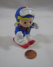 New Fisher Price Little People OLYMPIC GOLD WINNER SNOW SKIER GIRL w/ Medal USA