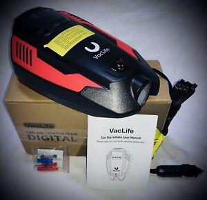 VacLife Air Compressor Tire Inflator, DC 12V Portable Air Compressor for Car