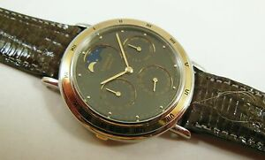 Lassale-by-Seiko-Two-Tone-Stainless-7F38-6210-Lizard-Sample-Watch-NON-WORKING
