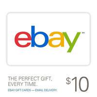 2 x $10 eBay Gift Card