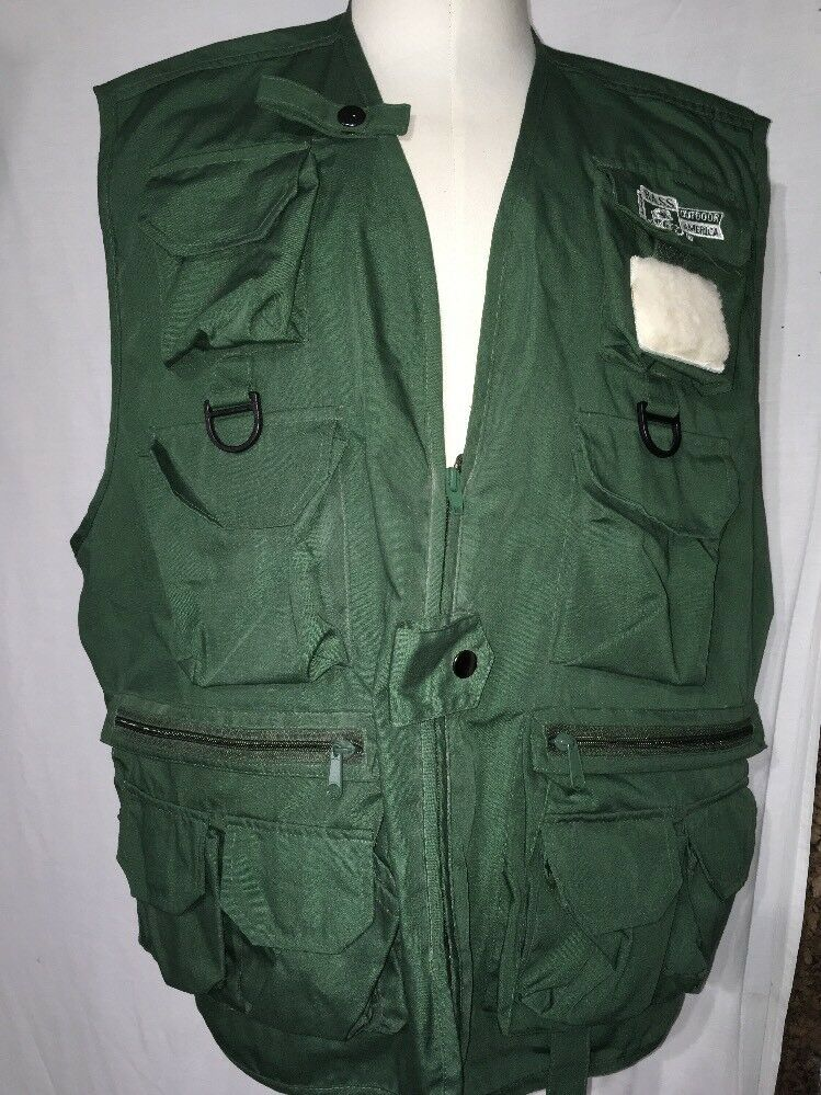 Bass fishing vest mens size L-XL Outdoor America NWT