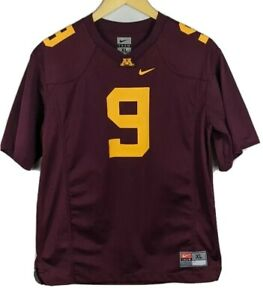 Minnesota-Golden-Gophers-football-jersey-youth-boys-XL-maroon-9-Nike-AWESOME-RTB