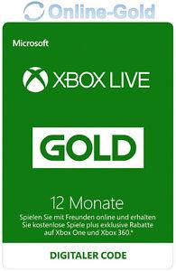 12 Monate XBOX Live Gold Mitgliedschaft Code Microsoft ONE 360 Schnell Versand