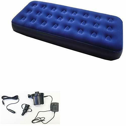 Zaltana Single Size Air Mattress with Two Way Electric air Pump