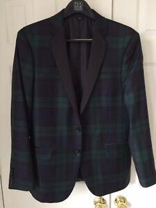Details about Jcrew Tuxedo Jacket Blackwatch Plaid Thompson Fit Size 40S