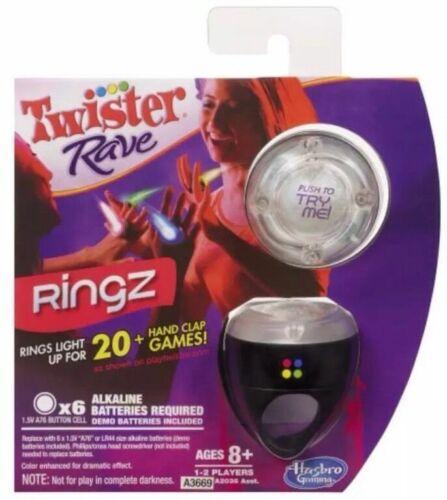 Twister Rave Clap manecillas brillan Ringz Juego Negro-Hasbro *** NUEVO ***