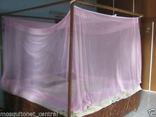 """AD9 SHAHJI CREATION 8X8 EXTRA LARGE DOUBLE BED NYLON MOSQUITO NET (96""""X96"""")"""