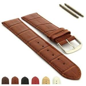 Two-piece-Genuine-Leather-Watch-Strap-Band-18-20-22-24-Croco-Louisiana-MM