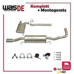 Auspuffanlage Auspuff ab Kat Audi A4 (B5) & Audi A4 Avant (B5) 1.8 + Anbaukit