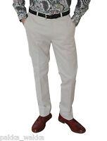 Cream Sta Press Trousers-warrior Mod Retro Skinhead Ska Scooterist Oi Soul 60's
