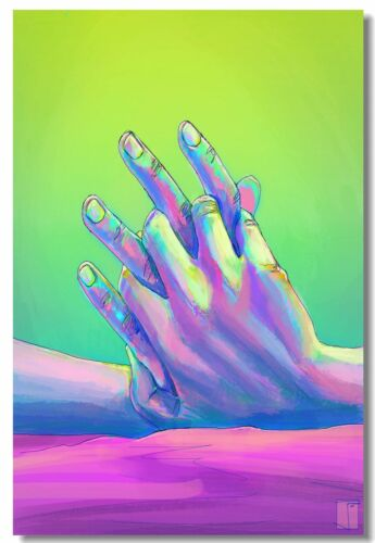 Poster Psychedelic Trippy Colorful Ttrippy Surreal Abstract Astral Art Print 86