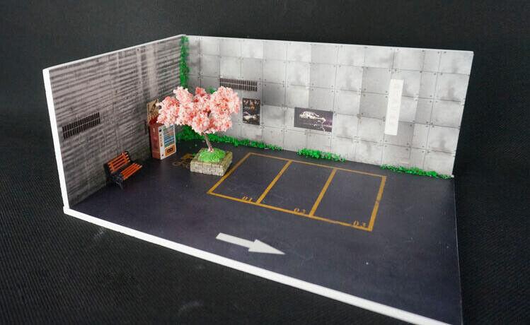 1  64 DIY Bilparkering garage Bilmodelllllerl visning skåp Ferrari garage