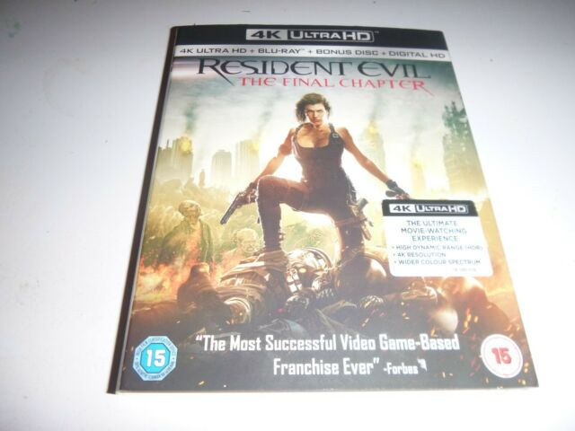 SLIPCOVER FOR RESIDENT EVIL THE FINAL CHAPTER 4K BLU RAY (NEW) NO DISC