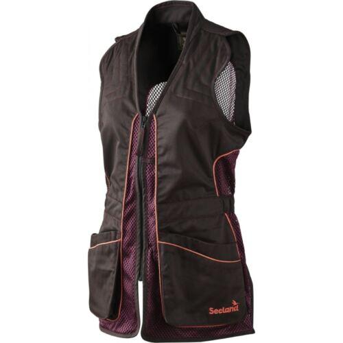 *Seeland Ladies Skeet Waistcoat Lady Shooting Vest Mesh Black Bean-Clay Shooting