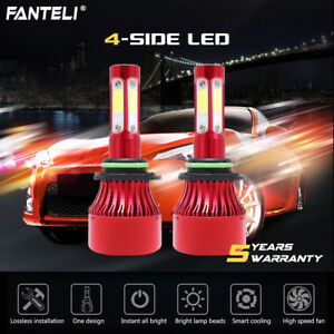 2300W 345000LM 4-Sided LED 9006 Headlight Kit Low Beam Bulbs 6000K High Power 603432738208