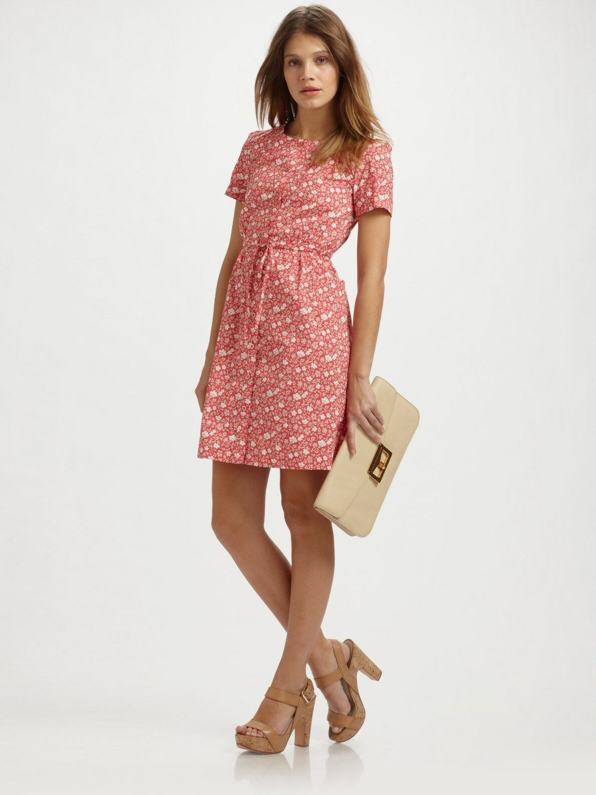 Marc By Marc Jacobs Pink Colette Flower Dress ( Size M)