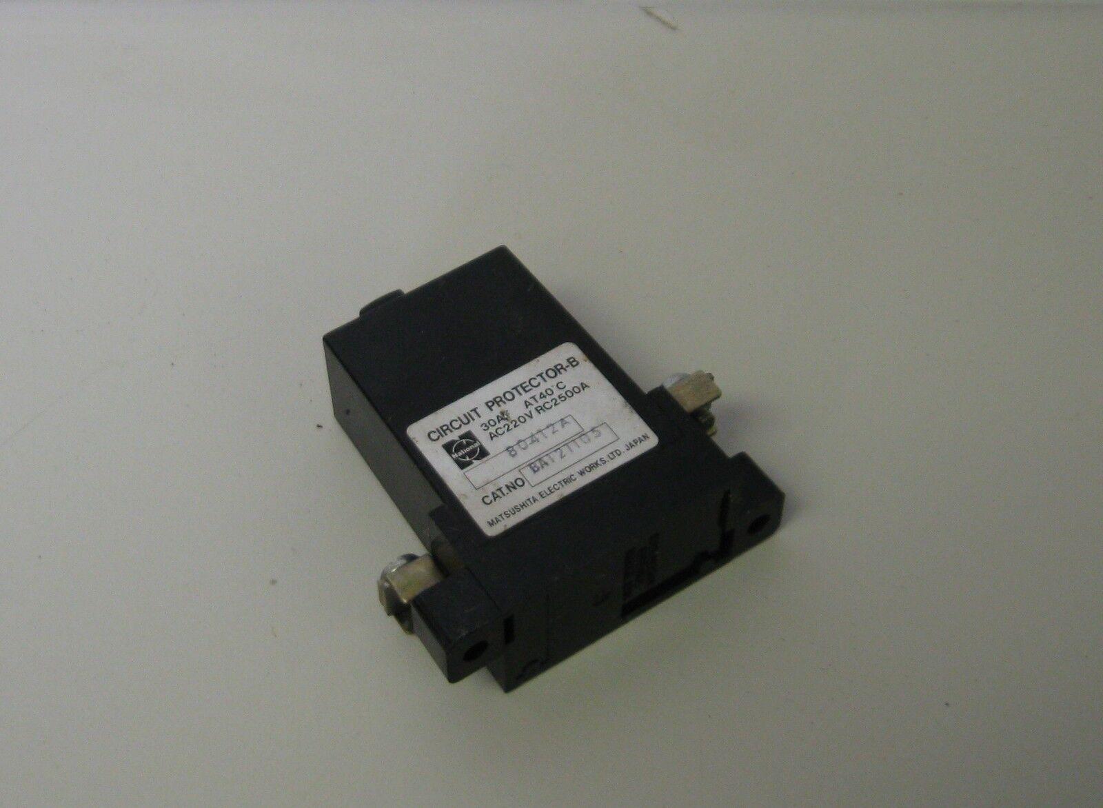 Matsushita Circuit Protector, B12 Warranty BA121105 1A Used