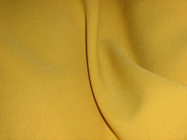 Gold Bi - Stretch Polyester Suiting Dress Fabric FREE P+P SOLD BY THE METRE