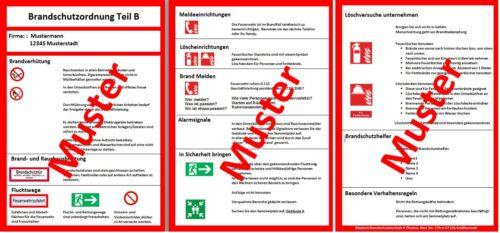Brandschutzordnung Teil B Schild DIN 14096
