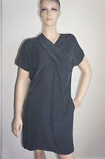 $595 NEW MAXSPORT by Max Mara Black/Washed Black Dress Sz IT44/US10