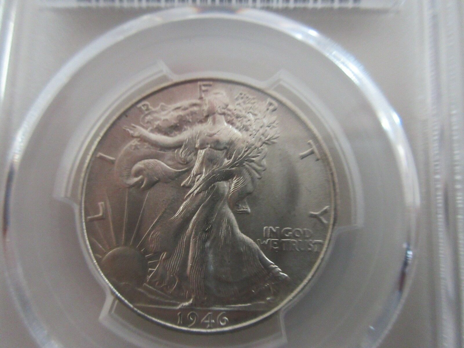 1946-S , Walking LIberty Half Dollar , PCGS , MS65+ (65