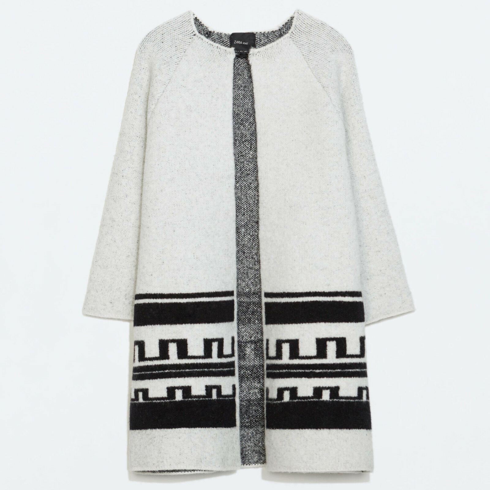 ZARA Women Ethnic Jacquard Short Coat S M Small Medium