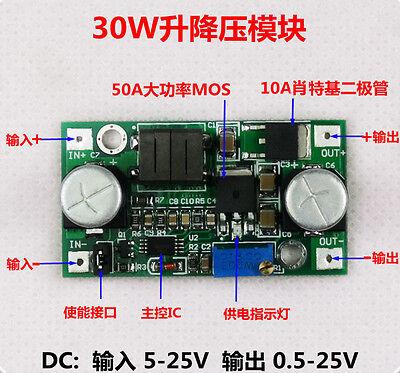 30W DC-DC 5-25V 12v to 0.5V-25V 24V  Adjustable Buck boost Converter module Car