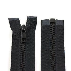 BLACK-10-039-039-32-039-039-INCH-CHUNKY-NO-5-OPEN-END-ZIPS-PLASTIC-SEW-ON-ZIPPER-NZ1332