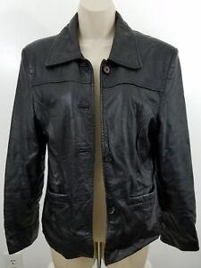 Black-Leather-Motorcycle-Jacket-Size-M-1669