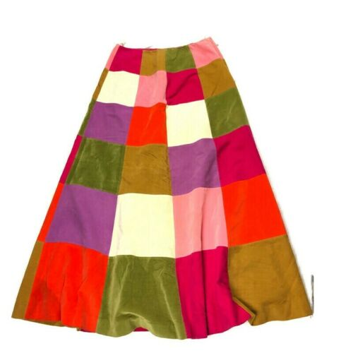 Bill Atkinson 1960s Vintage patchwork maxi skirt S