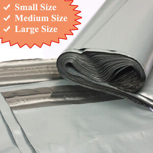 20-Strong-Grey-Plastic-Mailing-Post-Poly-Postage-Bags-with-Self-Seal-ALL-SIZES