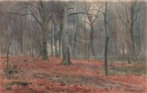 ALFRED-GRENFELL-HAIGH-1870-1963-Watercolour-Painting-FOREST-LANDSCAPE-1923