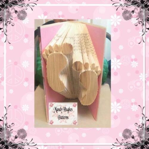 Baby Feet Folded Book Art Folding PATTERN ONLY #1008