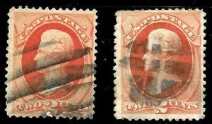 Sc-178-183-034-Bars-amp-Grid-034-Fancy-Cancel-SON-2-Cent-1875-79-US-72C71