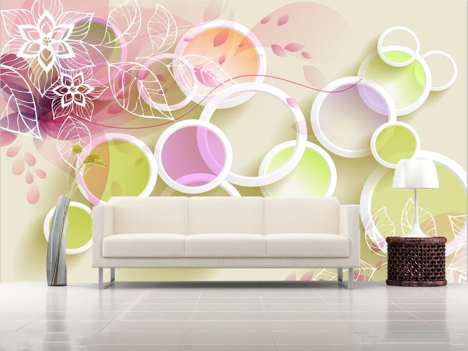 3D Flower Ring 84 Wallpaper Mural Paper Wall Print Wallpaper Murals UK