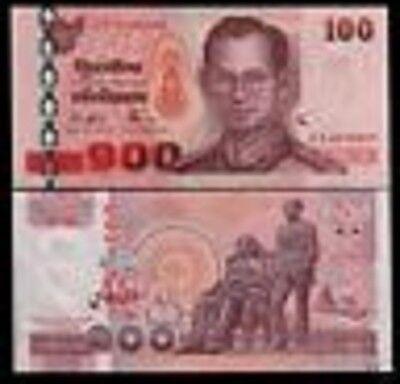 THAILAND 100 BAHT P113 2004 KING BHUMIBOL RAMA IX BOOK FLAG UNC MONEY BANK NOTE