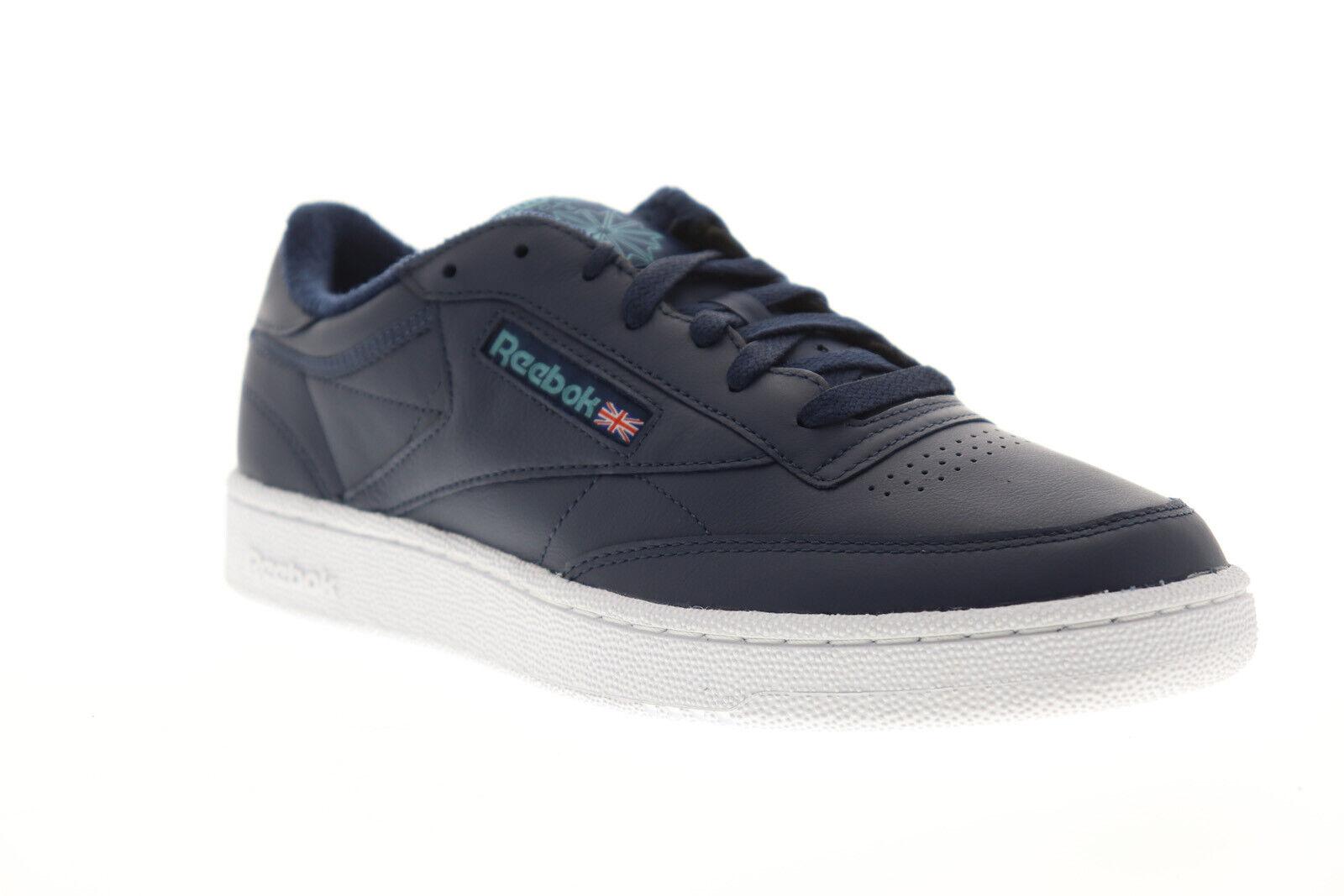 Reebok Club C 85 Mu DV3896 Mens bluee Leather Casual Low Top Sneakers shoes