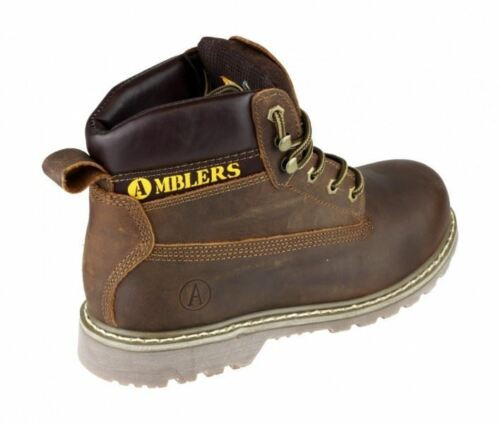 AMBLERS FS164 BROWN LEATHER STEEL TOE//MIDSOLE SAFETY WORK BOOT VARIOUS SIZES