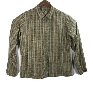 Woolrich-Women-039-s-Size-XL-Plaid-Long-Sleeve-Button-Front-Shirt-100-Cotton-Casual