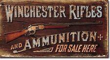 Winchester - Rifles & Ammo Tin Sign rifle shotgun handgun hunting