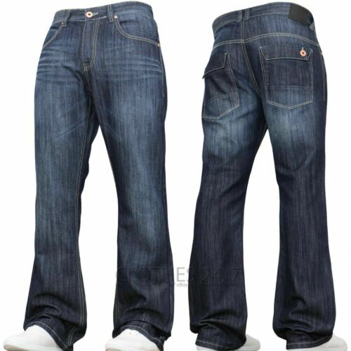 New Mens Bootcut Jeans Clearance Sale Flared Wide Leg Denim 70/'s 80/'s 90 Pants