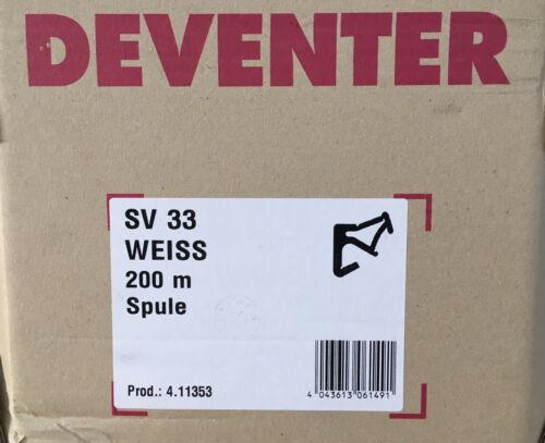 Deventer SV 33 Überschlagdichtung weiss 2,5 mm Falzhöhe 200 Meter Spule