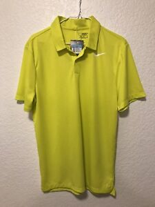 15ce80a62 NWT Nike Ultr2 Slim Golf Polo White Swoosh Size Medium Color Yellow ...