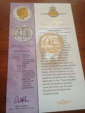2002 ORO ARGENTO PROOF 1oz £ 5 cinque sterlina coin.queen giubileo d'oro stato ALLENATORE