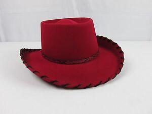 Renegade Red Mens Cowboy Hat XX Fur Blend 90% Wool 10% Fur Sz 7 1 4 ... 02addc48f1a